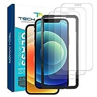 3PK Tech Armor Ballistic Glass Screen Protector for iPhone 12 Deals