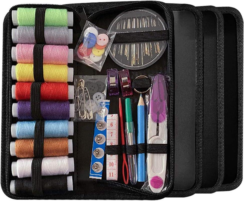 Meilo Kit de Costura, Suministros de Costura avanzados de Bricolaje, Mini Kit de Costura portátil para Principiantes, viajeros, reparación de Ropa de Emergencia, Bordado, (78Pcs): Amazon.es: Hogar