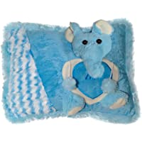 Ultra Soft Love Cushion Pillow - Elephant, Blue