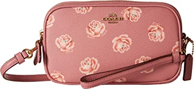 6e338bfe5618f COACH Women's Crossbody Clutch With Floral Print B4/Rose Rose Print One Size
