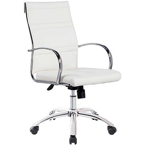 Silla de escritorio para despacho modelo MILLER color blanco ...