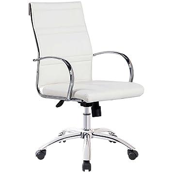 Silla de escritorio para despacho modelo MILLER color blanco - Sedutahome: Amazon.es: Hogar