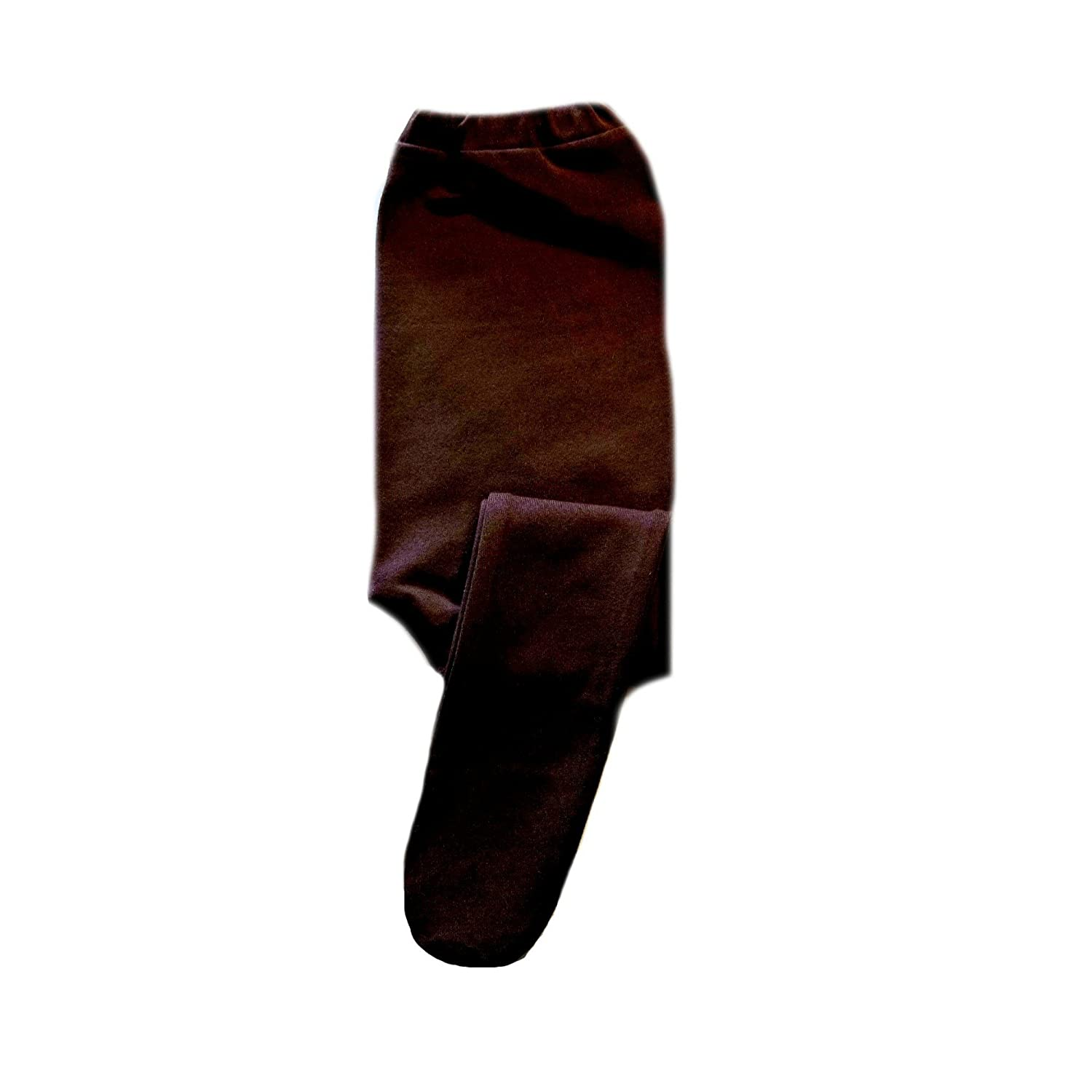 Jacquis Baby Boys Brown Cotton Lycra Footed Pants 6-12 Months