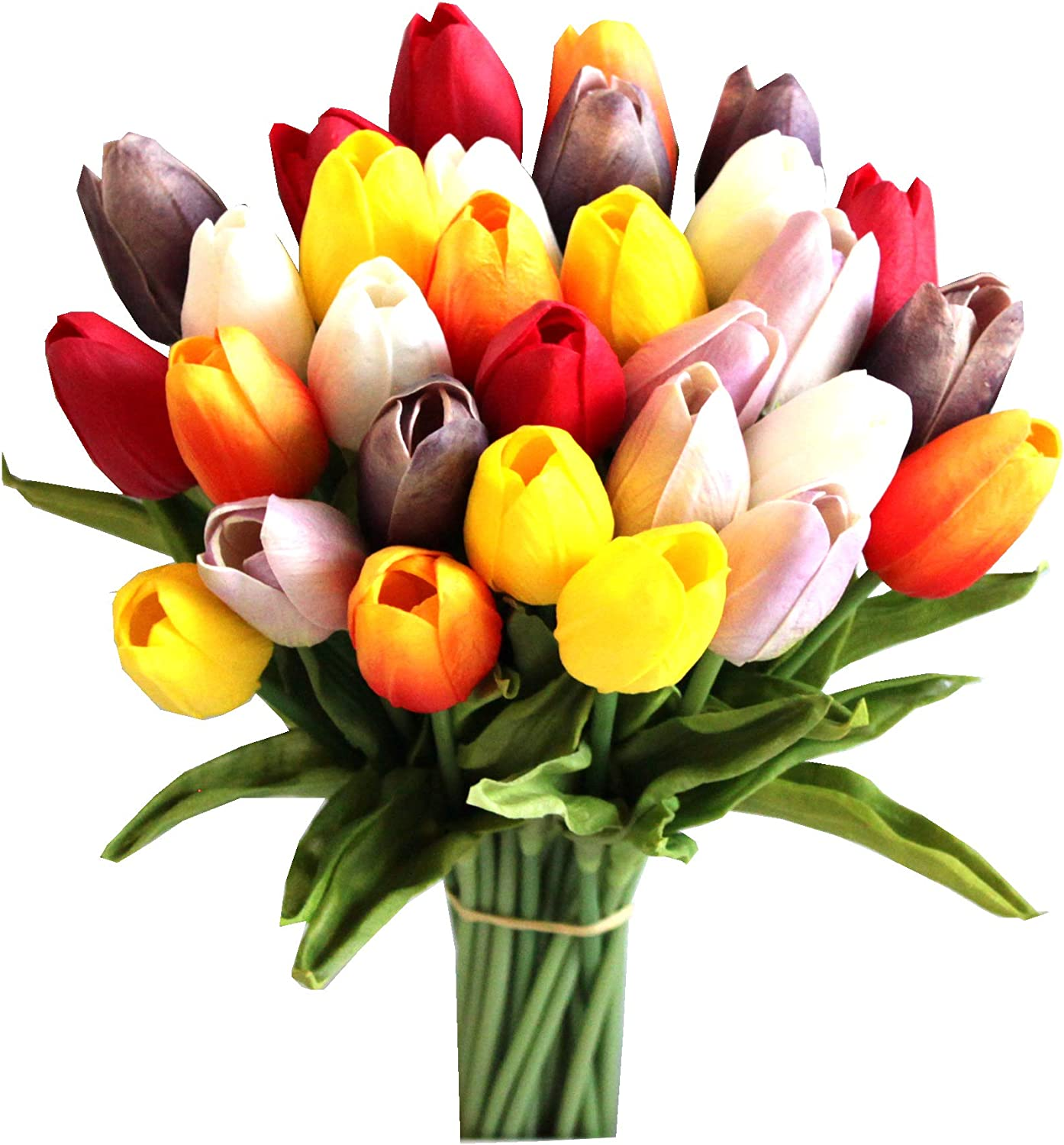 Multicolored Faux Tulip Bouquet