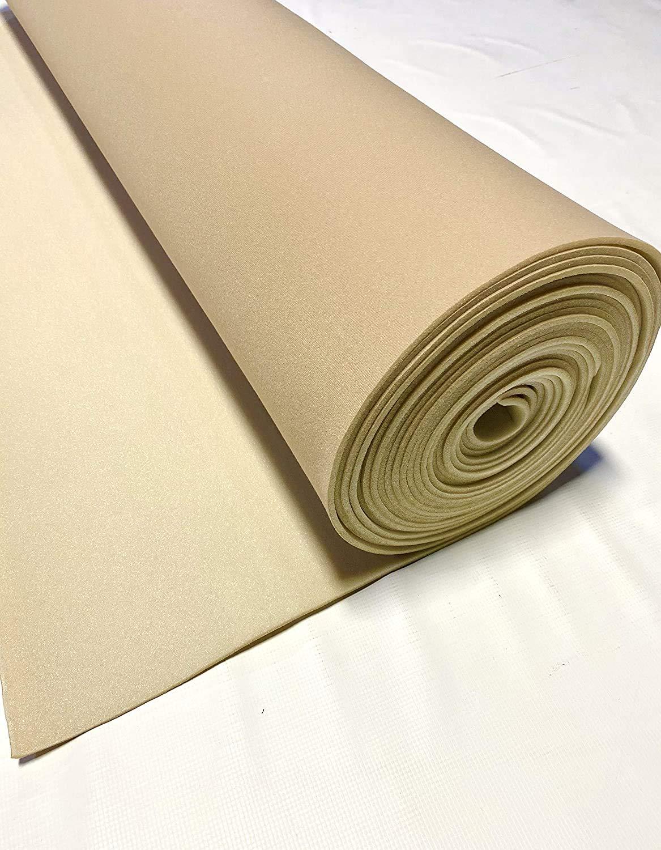"Lt Tan 60"" Long (5 Feet) X 60"" Wide Headliner 3/16 Foam Backed Fabric Material"