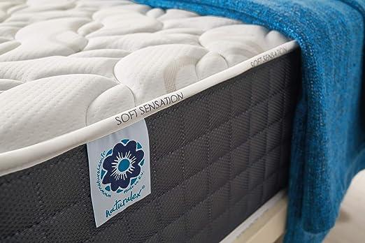 Naturalex COLCHÓN VISCOSOFT - Espuma HR Blue Latex® - Espuma VISCOELÁSTICA Bio Memory® + VISCOTEX® - 7 Zonas DE Confort - 30 CM (90 x 190 cm, ...