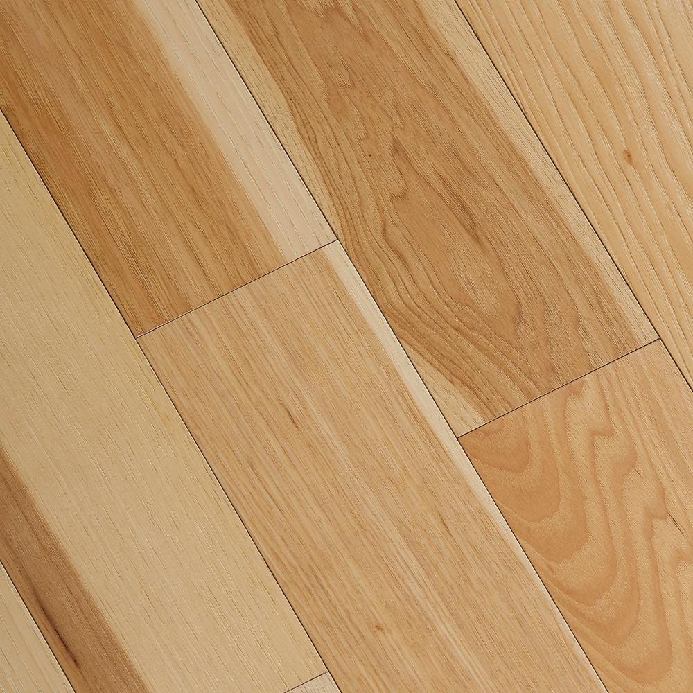 Wire Brushed Natural Hickory 3/8 in. x 5 in. Wide x 47-1/4 in. Length Click Lock Hardwood Flooring (19.686 sq. ft./case)
