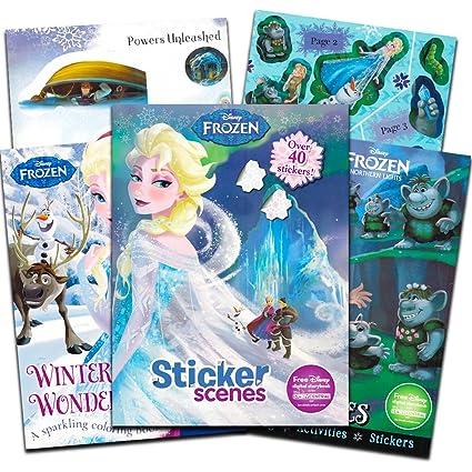 Amazon.com: Disney Frozen Coloring Book Super Set -- 3 Deluxe Frozen ...