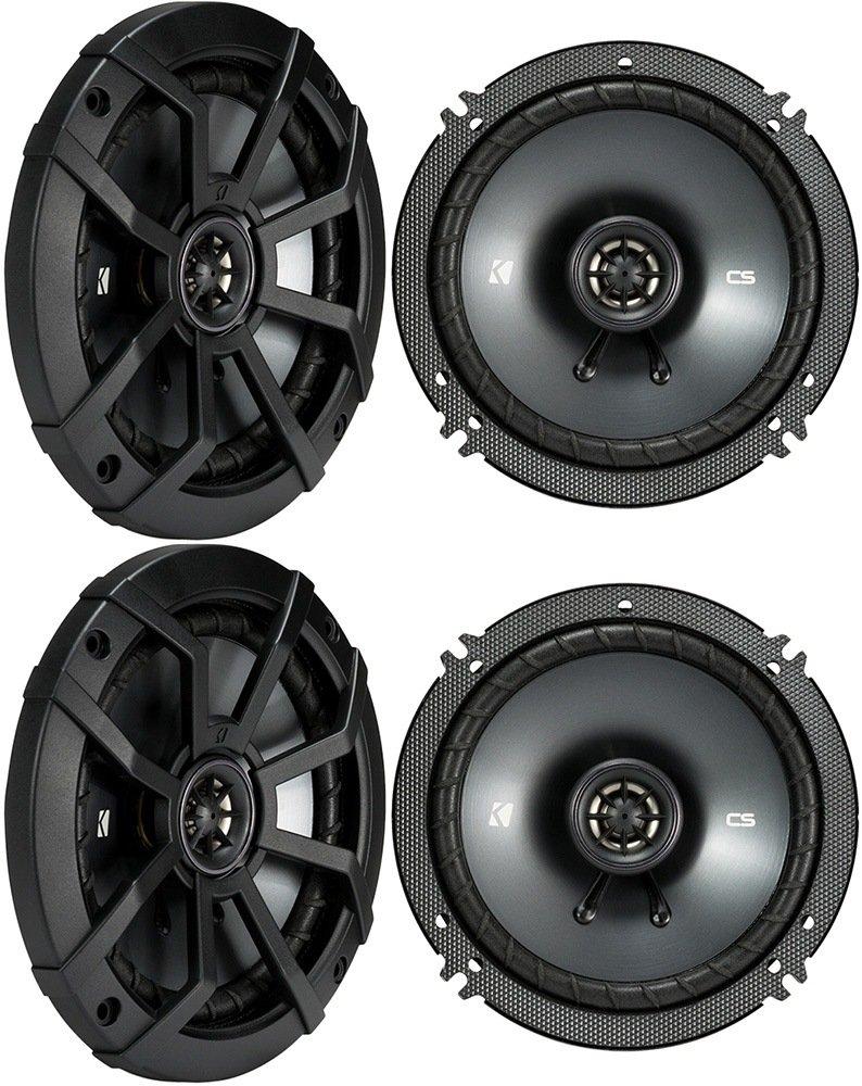 4 KICKER 43CSC654 CSC65 6.5 6-1//2 1200w 4-Ohm Car Audio Coaxial Speakers 43CSC654 2
