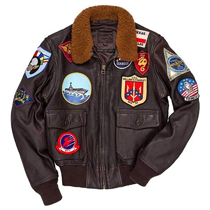 Amazon.com: Tom Cruise Top Gun Maverick - Chaqueta de piel ...
