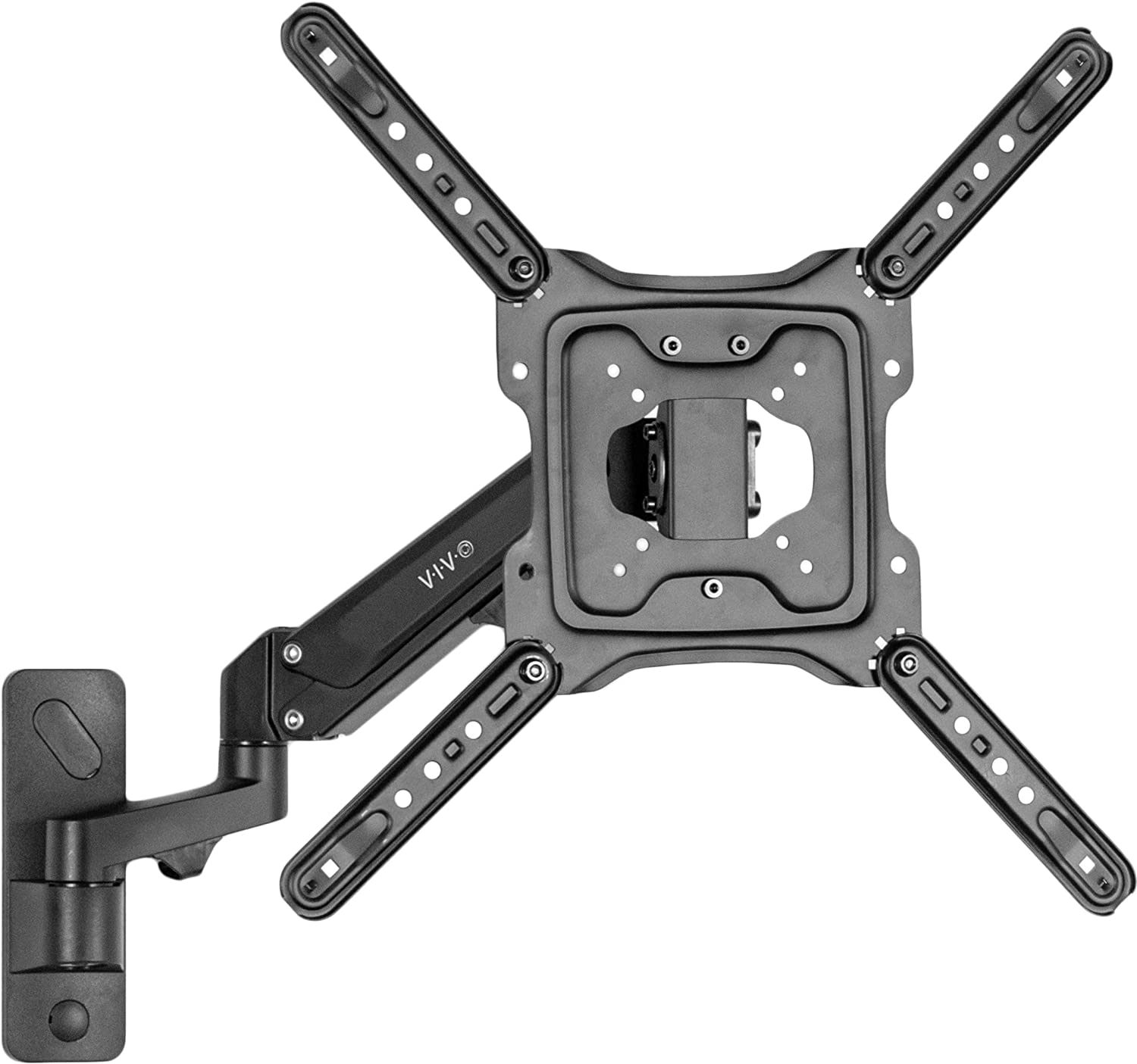 VIVO Premium Aluminum Single TV Wall Mount for 23 to 55 inch Screens, Adjustable Arm, Fits up to VESA 400x400 (MOUNT-G400B)