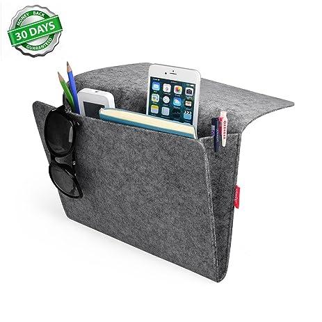 Bedside Caddy, Felt Bed Caddy Storage Organizer Pocket Inside With 2 Small  Pockets For Organizing