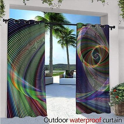 Amazon com : Fractal Outdoor Blackout Curtains W96 x L96