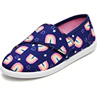 Amazon Price History:K KomForme Toddler Girls Sneakers Slip On Moccasins Casual Canvas Shoes Kid's Lazy Loafers Shoes