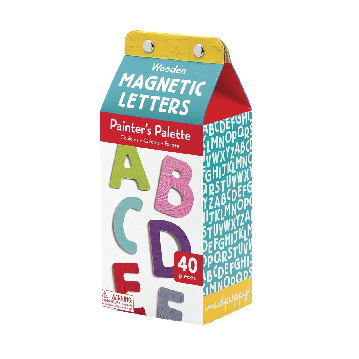 Mudpuppy Painter's Palette Uppercase Letters Wooden Magnetic Set