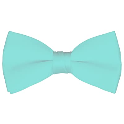 Boy's Solid Color Banded Satin Bow Ties / Bowties