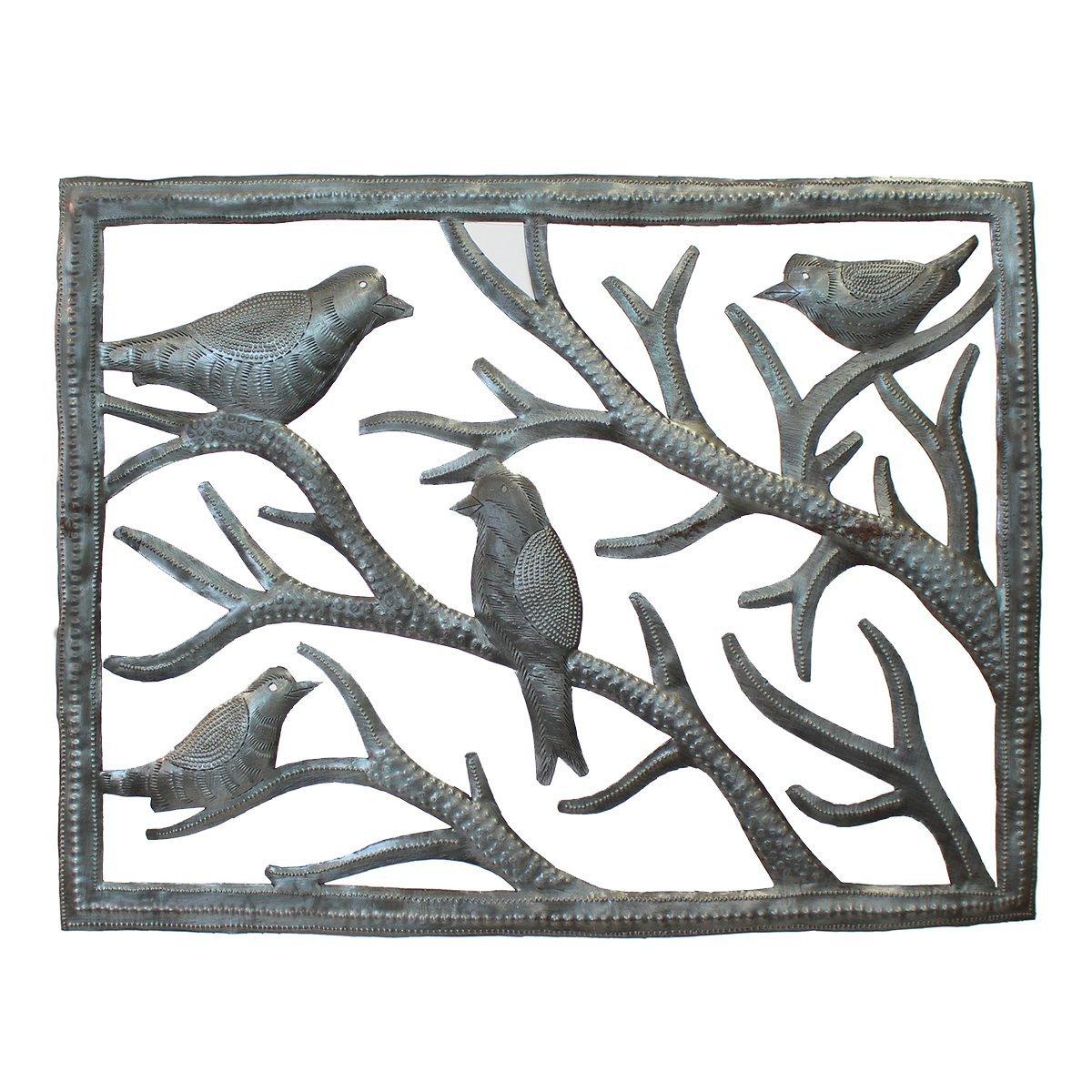 Vineworks Birds in the Window Haitian Fair Trade Metal Art