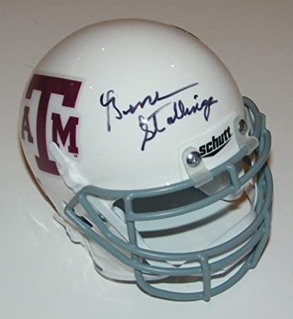 Amazon Com Gene Stallings Signed Autographed Auto Texas A M Aggies Mini Helmet Proof Sports Collectibles