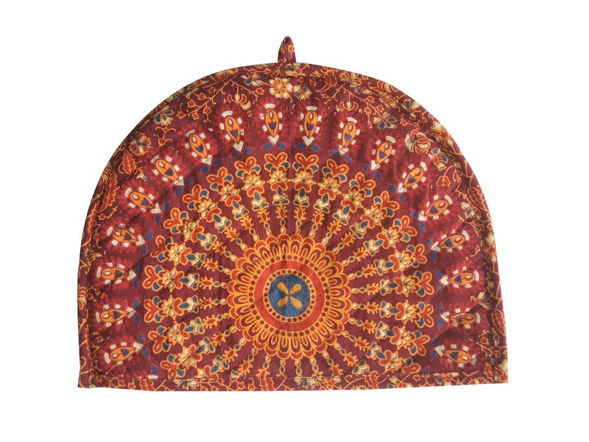 Sugun Printed Indian Royal Look Teapot Cosy Cover - Size 14x11 Inches SGN-1342