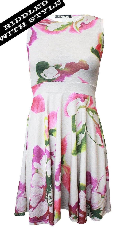 1f792d980270 Amazon.com  Women Sleeveless Skater Swing Dress Women Sumer Season Fancy  Dress Parties Top  Clothing