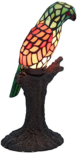 Warehouse of Tiffany's 3268 BB925 Tiffany-Style Parrot Accent Lamp