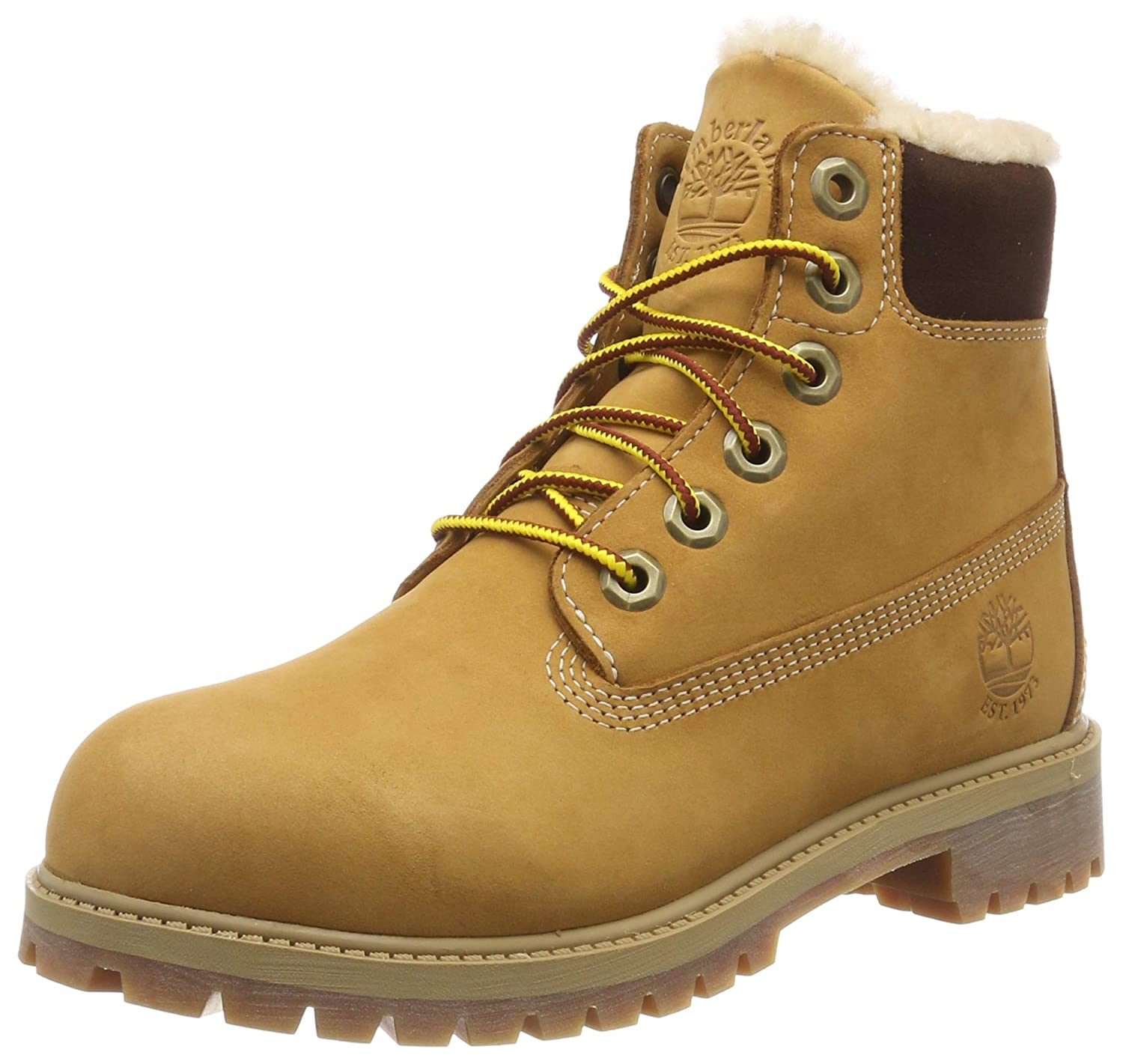 Timberland 6 in Premium Waterproof Shearling Lined, Bottes Mixte Enfant