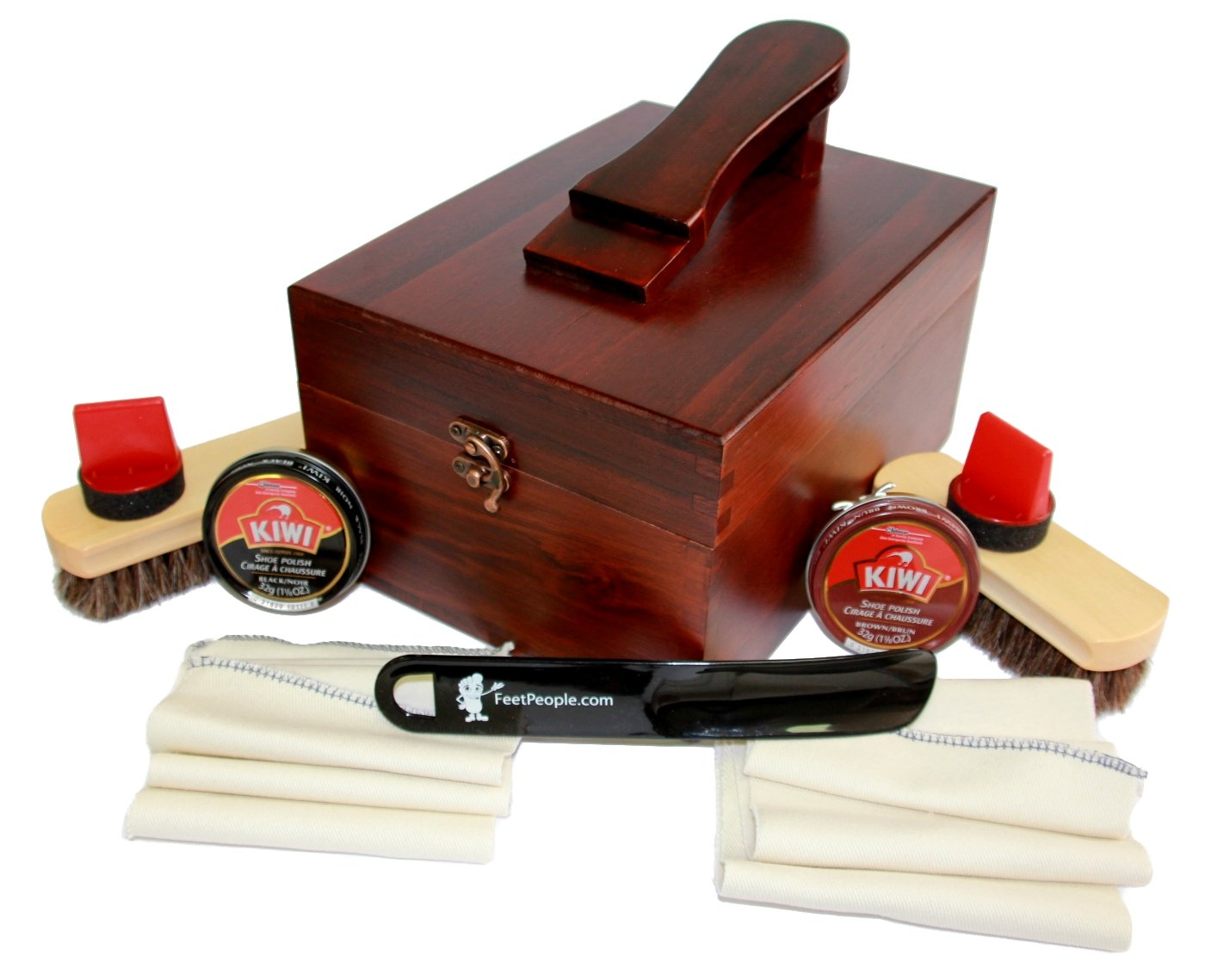 FeetPeople Leather Care Valet Shoe Shine Kit (#145), 3 Kits
