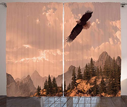 Ambesonne Eagle Curtains