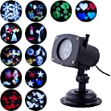 Projector Lights, Oxyled LED Party Projection Lamp, Colorized Auto Moving LED String lights With 12 Lighting Modes, 6 LED, Waterproof for Party & Holiday, Black