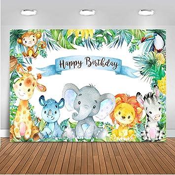 Avezano Safari Wild One Backdrop Safari 1st Birthday Party Photography Background 7x5ft Jungle Safari Animal Birthday Backdrops for Boys