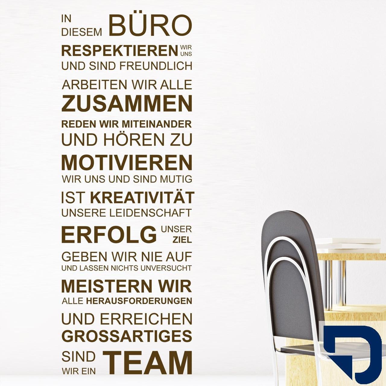 DESIGNSCAPE® Wandtattoo In diesem Büro respektieren respektieren respektieren wir uns, arbeiten wir alle zusammen, geben wir nie auf, sind wir ein Team... 67 x 180 cm (Breite x Höhe) schwarz DW801462-L-F4 B01DT7FJGK Wandtattoos & Wandbilder 79d88b