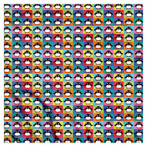 Bandana Frame - Ambesonne Unisex Bandana, Penguin Colorful Frame Animals, Rainbow Color