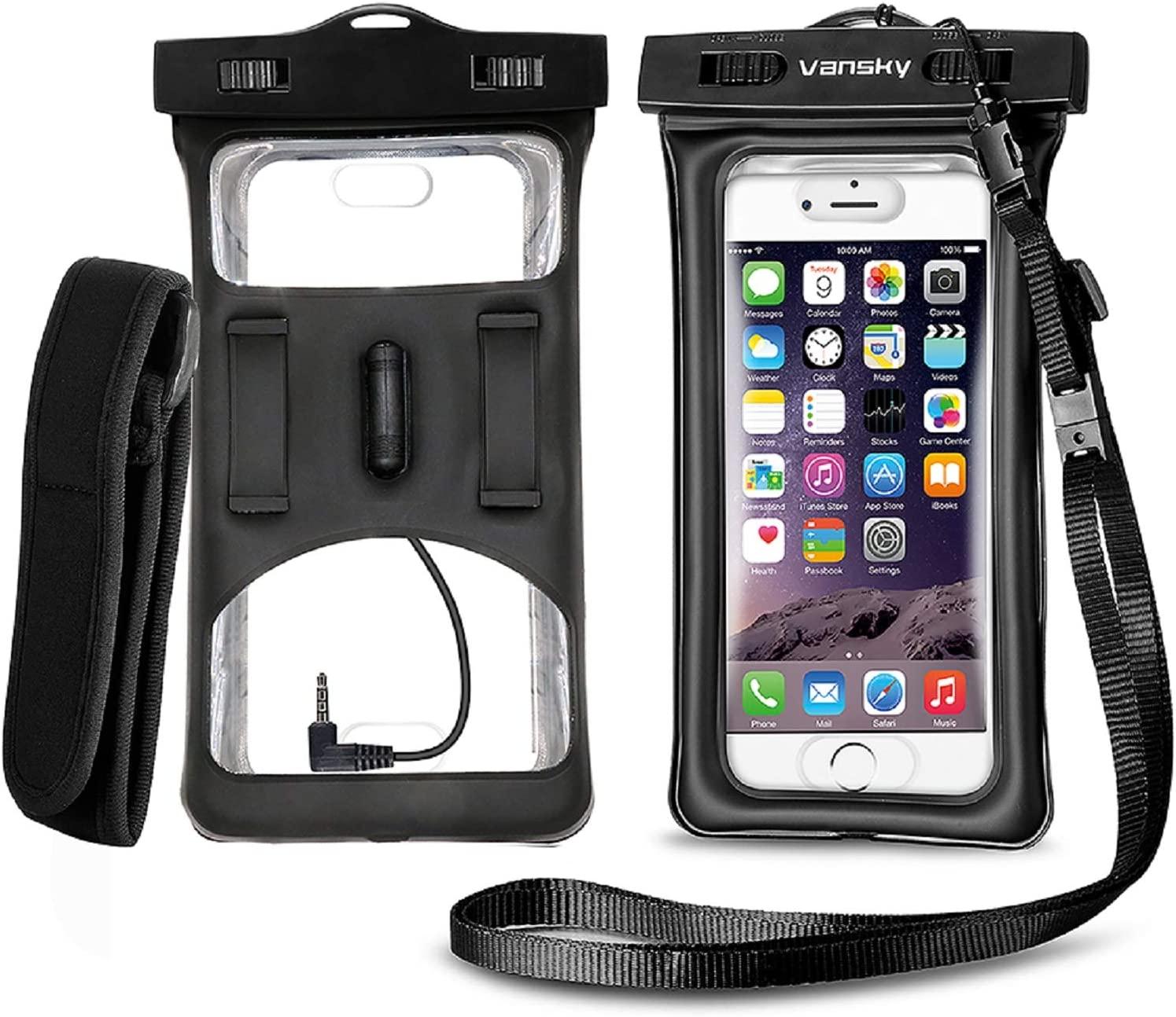 Amazon Com Vansky Floatable Waterproof Case Cellphone Dry Bag With Armband And Audio Jack For Iphone 12 11 X Xr 7 7 Plus Samsung Tpu Construction Ipx8 Certified Waterproof Phone Pouch