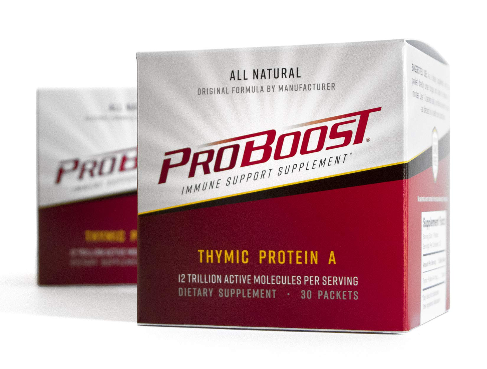 ProBoost, Thymic Protein A (TPA), 60 Packets with 4 mcg TPA/Packet - Immune Support Supplement by Genicel, Inc.