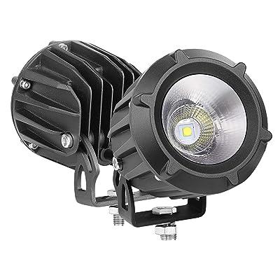 "LED Pods, Auto Power Plus 2PCS 3"" 50W Round Off Road Driving Light CREE LED Work Light Spot Flood Combo Light Round LED Pod Light for Off Road Truck Motorcycle Jeep ATV Boat Tractor: Automotive"