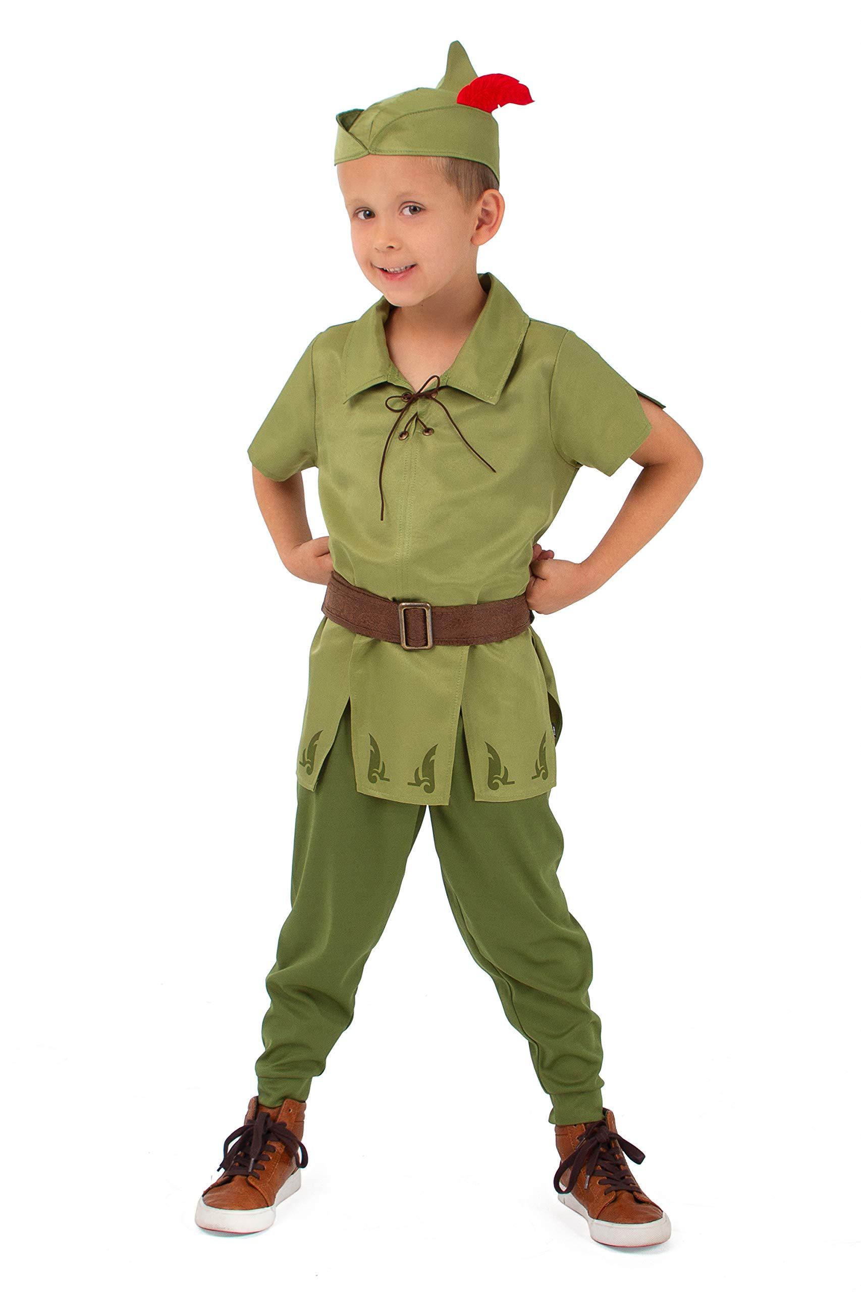 Little Adventures Child Peter Pan Costume (Medium Age 3-5) Green