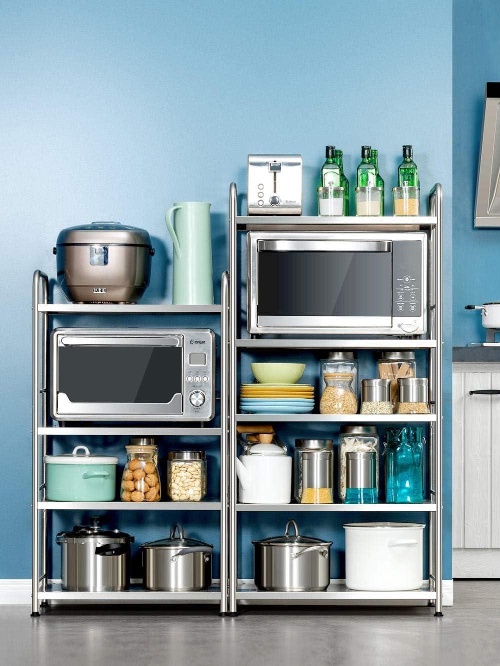 scaffale cucina Ripiani ripiano cucina Scaffale multistrato per forno a microonde a pavimento a 4 strati lunghezza 80 5 Strati 60 Lunghezza