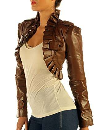f893bf9114 Ladies Antique Brown Leather Waistcoat Steampunk Top (XXX-Large):  Amazon.co.uk: Clothing