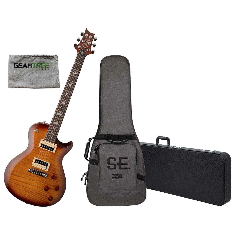 e4301dc041f Amazon.com: PRS SE 245 Electric Guitar Tobacco Sunburst w/Gig Bag, Hard Case,  and Geartree: Musical Instruments