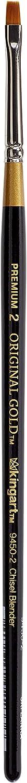 KingArt Original Gold 9450 Series , Premium Artist Brush, Golden TAKLON Chisel Blender-Size: 2, 2