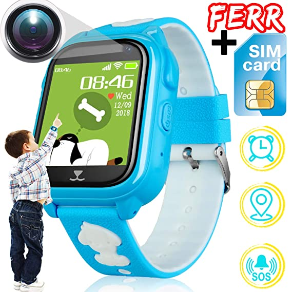 [Free SIM Card] Smart Watch for Kids Fitness Tracker Waterproof IP68 GPS Tracker Watch SOS Camera Anti-Lost Game Pedometer Sport Run Wrist Outdoor ...