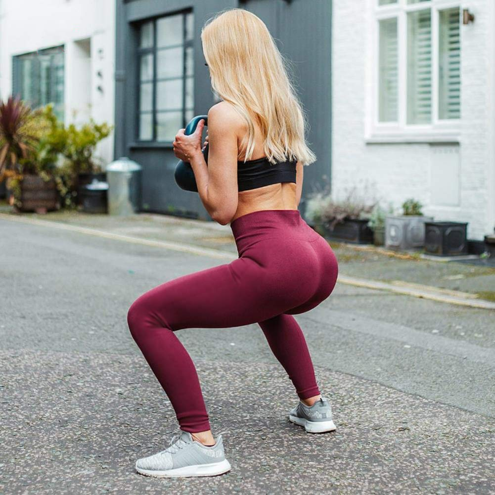 Gayhay High Waist Yoga Pants with Pockets for Women Tummy Control Workout Running 4 Way Stretch Yoga Leggings
