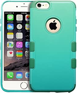 MyBat APPLE iPhone 6 Plus TUFF Merge Hybrid Protector Cover - Retail Packaging - Green