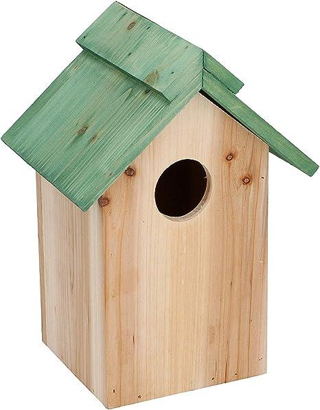Vogelhaus Nistkasten Für Meisen Stabiles Holz Vogelhäuschen Zum Aufhängen Für Garten Und Balkon 24x18x12cm Amazon De Haustier