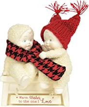 Department 56 Snowbabies Classics Warm Wishes to The One I Love Figurine, 4.5 Inch, Multicolor