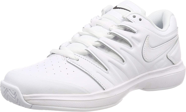cocinar una comida Locomotora Actualizar  Amazon.com | Nike Men's Air Zoom Prestige Leather Tennis Shoes  (White/White, 8 M US) | Tennis & Racquet Sports