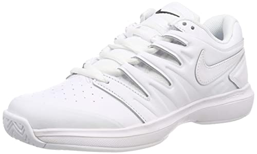 Nike Men's Air Zoom Prestige Hc Lthr Low Top Sneakers, WhiteBlack 001, 6 UK