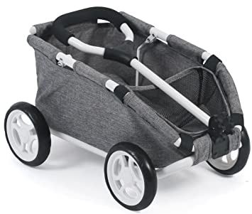 Amazon.es: Bayer Chic 2000 660 76 zieh Carro Skipper, pequeño Carro para Teddys y muñecas, Jeans Gris: Juguetes y juegos