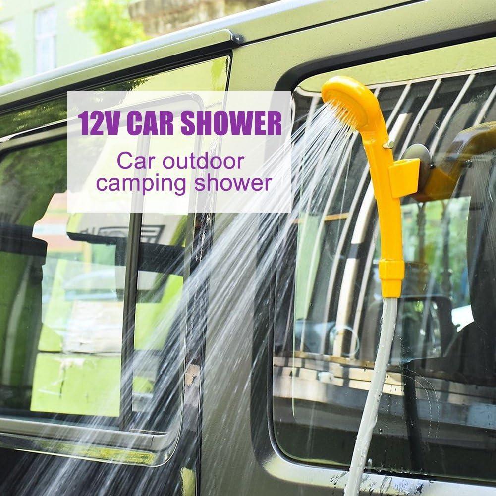 12V Camping Dusche Brause+Tauchpumpe für Auto Outdoor Gartendusche Wohnmobil DHL