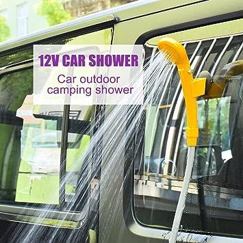 Campingdusche 12 V Mobile Dusche mit Zubehör Gartendusche Wohnmobil Reisedusche